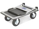 Chariot à plateforme pratique à grandes roues
