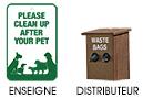 Système de ramassage pour déchets de chien