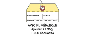 Étiquettes à fil métallique préfixé