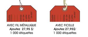 Étiquettes colorées