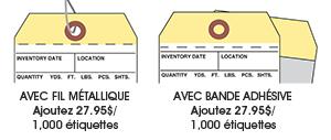 Étiquettes d'inventaire