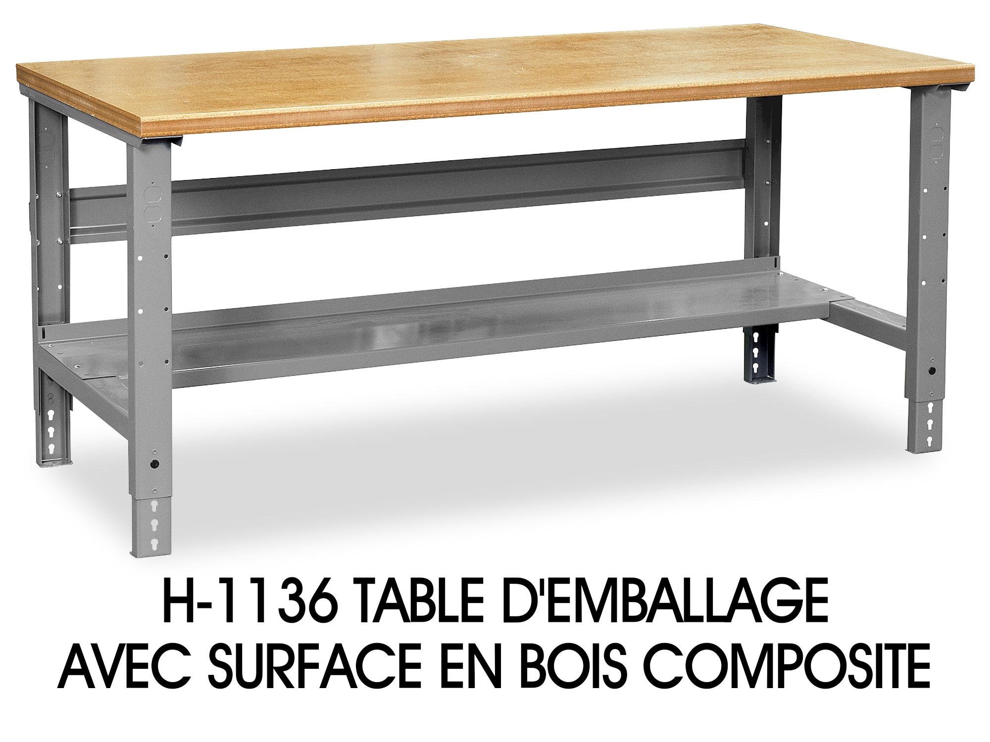 Surface pour table d'emballage