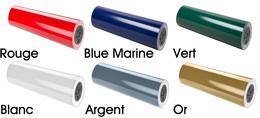 Couleurs de papier d'emballage : rouge, bleu marine, vert, argenté, or